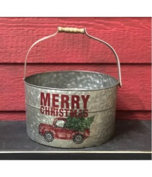 Merry Christmas Truck Bucket
