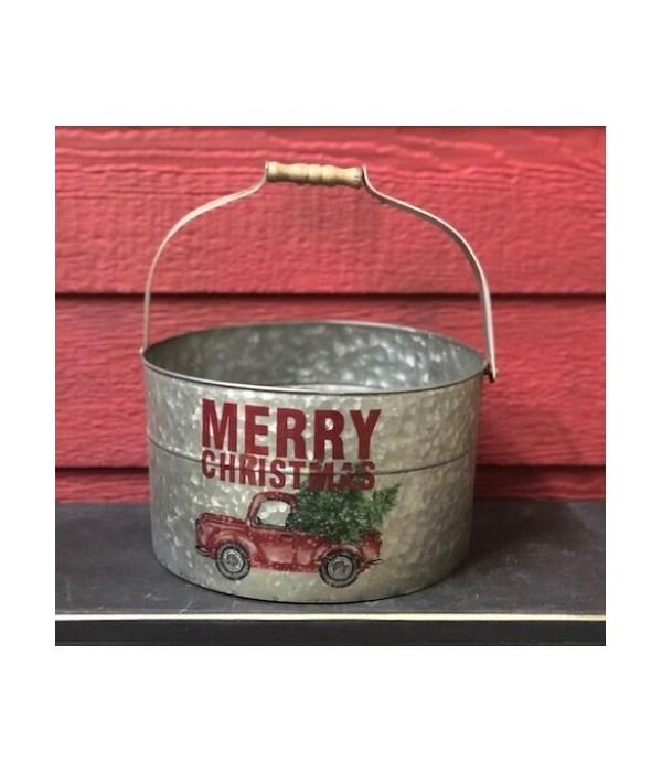 Merry Christmas Truck Bucket