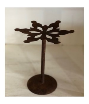 Rusty Snowflake Candle Hold