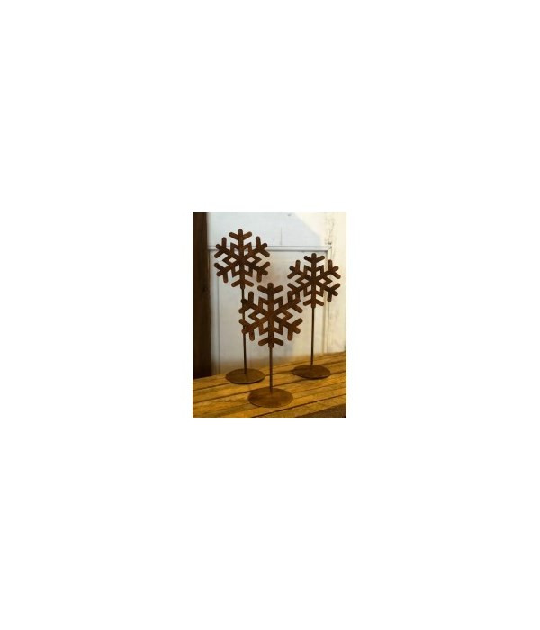 Rusty Dbl Snowflake Stands
