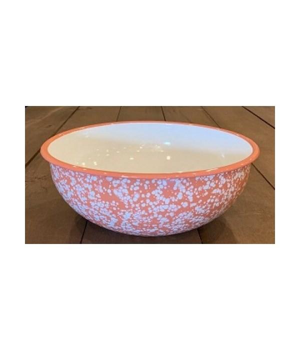 Coral Splatter Enamelware Bowl