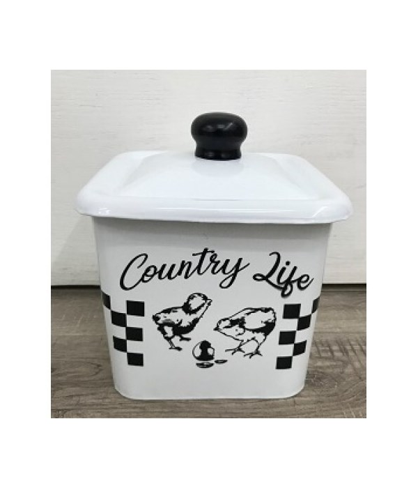 Country Life Enamel Canister