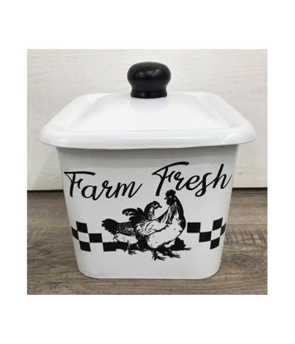 Farm Fresh Enamel Canister