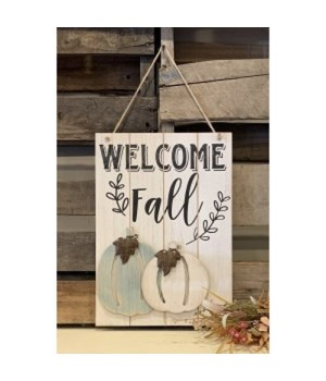 Welcome Fall Wood Sign