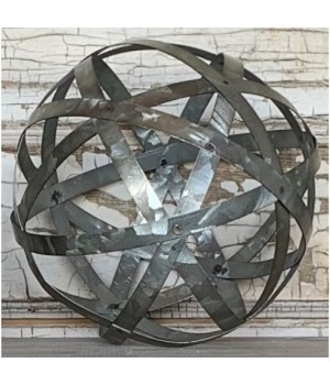 Galvanized Metal Band Sphere-L