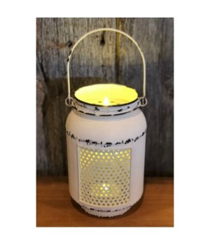 Cream Dist LED MasonJar Lght-L