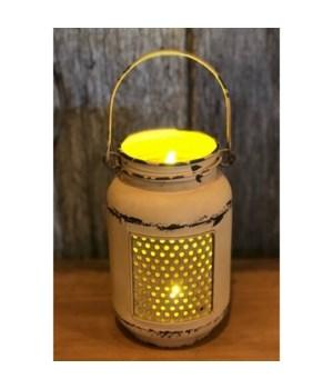 Yellow Dist LED Mason Light Sm