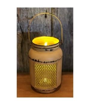Yellow Dist LED Mason Light Lg