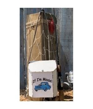 Gone Fishin Metal Box w/Strap