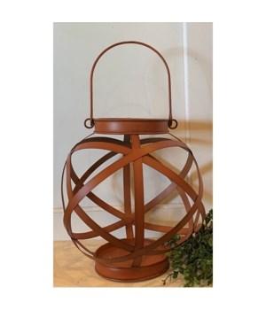 Rusty Orange Sphere Lantern