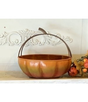 Tri-Tone Pumpkin Basket
