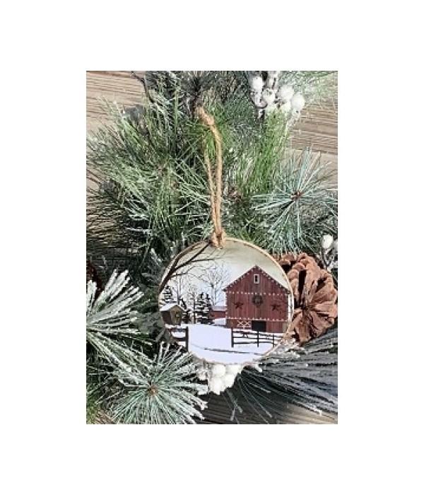 The Christmas Barn Ornament
