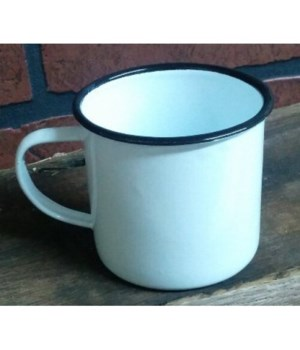 Bk Rim Enamel Coffee Mug4 x 5.5 in.
