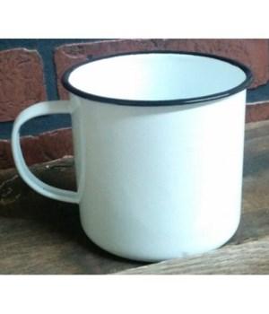 Bk Rim Enamel Soup Mug 4 x 4.25 in.