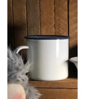 Blue Rim Soup Mug