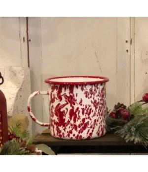 Red Splatter Soup Mug