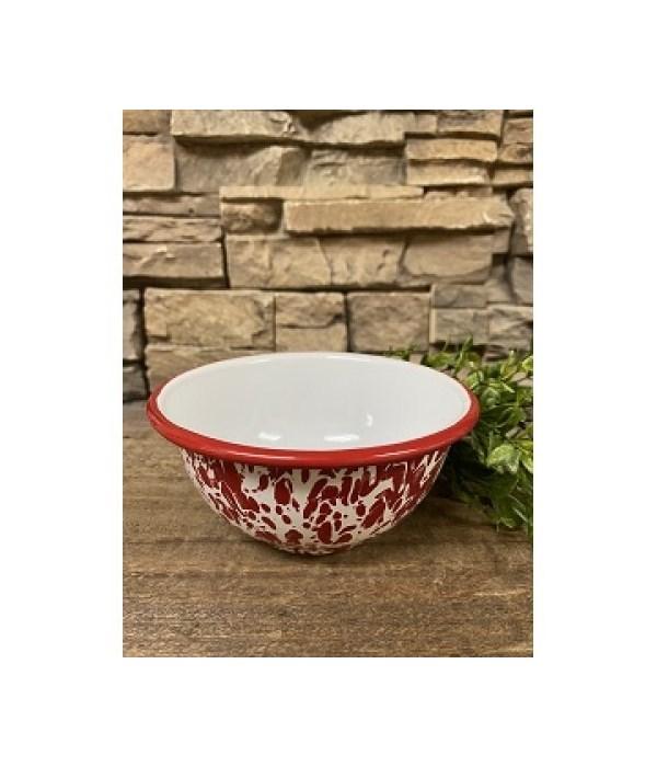 Red Splatter Cereal Bowl