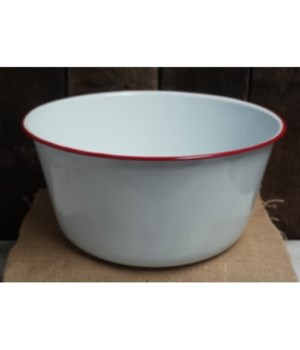 Rd Rim Enamel Mix Bowl 5.5x11