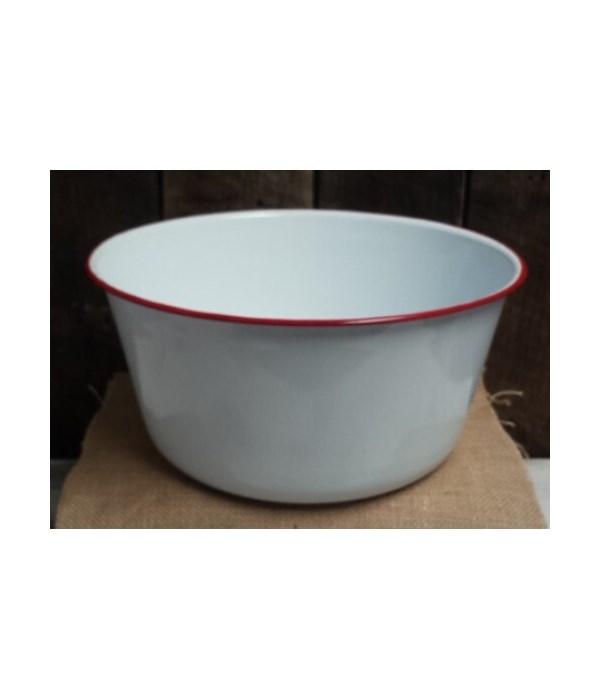 Rd Rim Enamel Mix Bowl 5.5x11