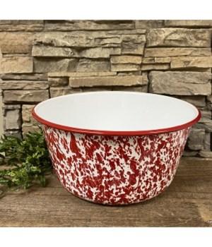 Red Splatter Mixing Bowl