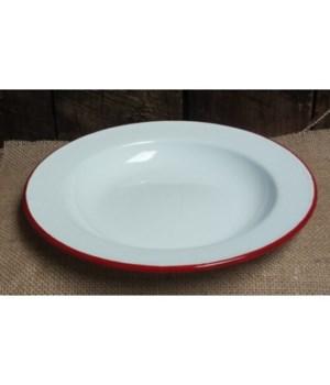 RdRim Enamel Salad Plate 8in