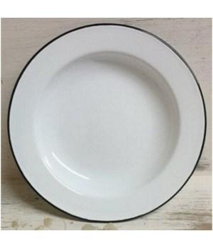 Bk Rim Enamel Salad Plate 8in