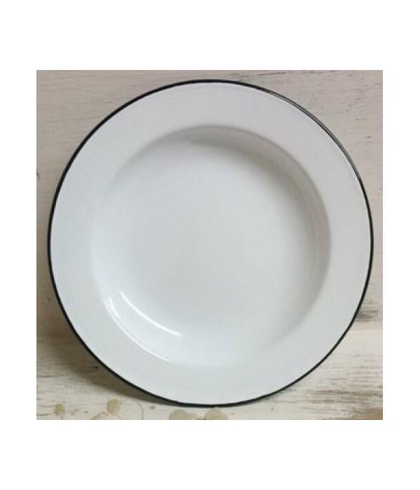 Bk Rim Enamelware Plate 10in
