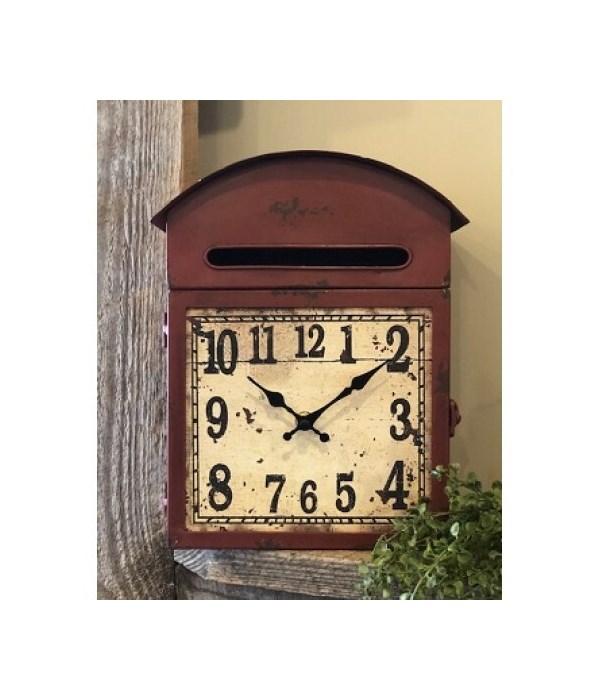 Red Barn Clock 11 in.x8 in.x4 in.