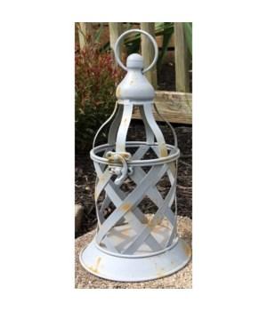 Gray Lattice Lantern Small
