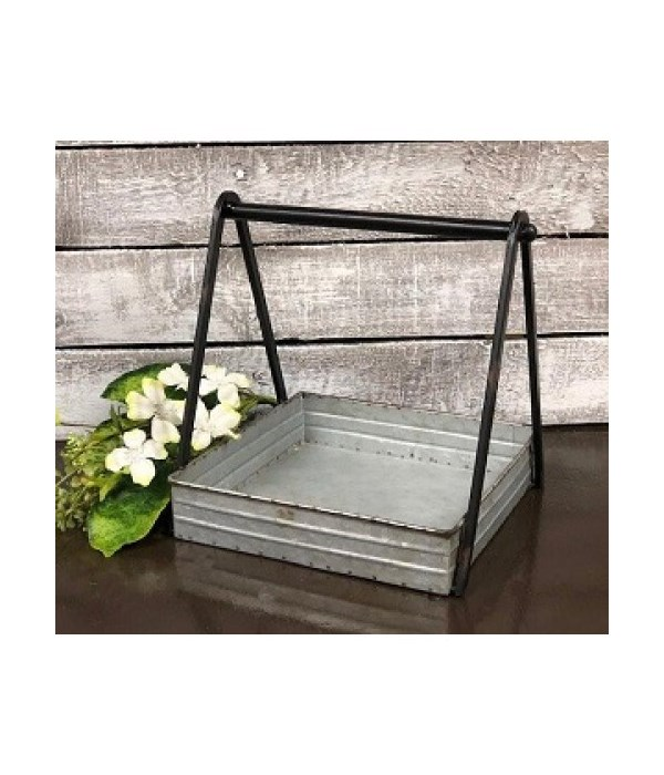 Truss Handle Square Tray 10 x 9 x 9 in.