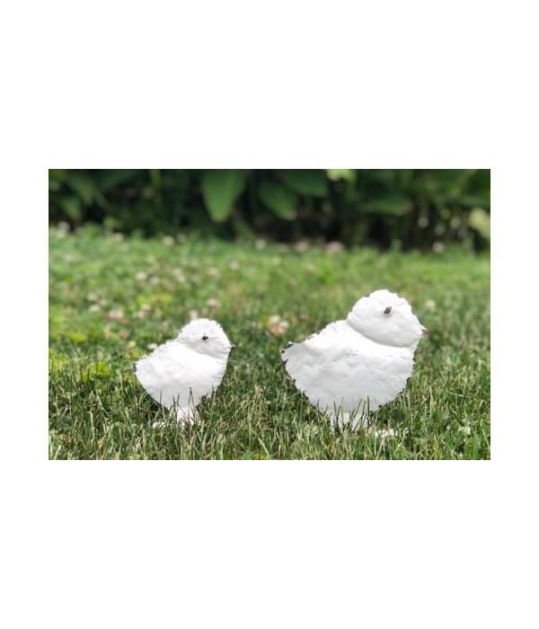 White Metal Chick Silhouette SM 4.75 x 4.75 in.