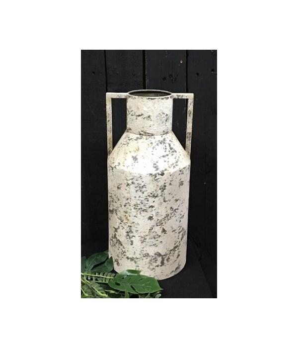 Crream Distressed Roman Vase 15 x 7 in.
