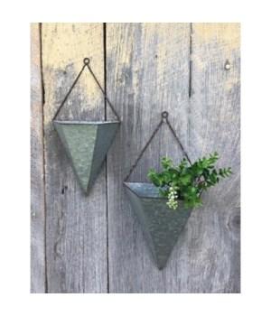 Metal Hanging Planter (set 2)