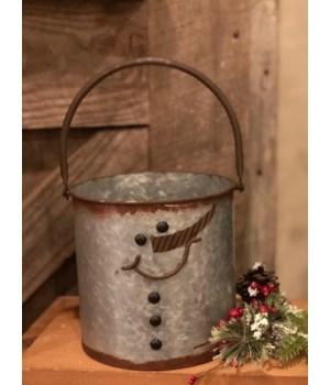 Snowman Bucket 6.25 x 6.25 in.