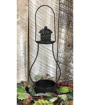 Black Distressed Lantern
