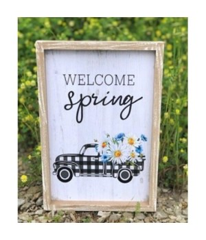 Welcome Spring Truck Sign