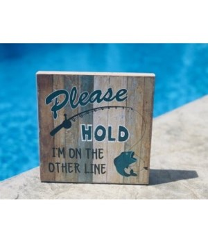 Please Hold Fishing Sign