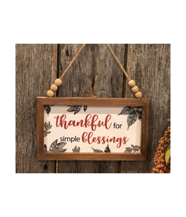 Thankful For Blessing Sign