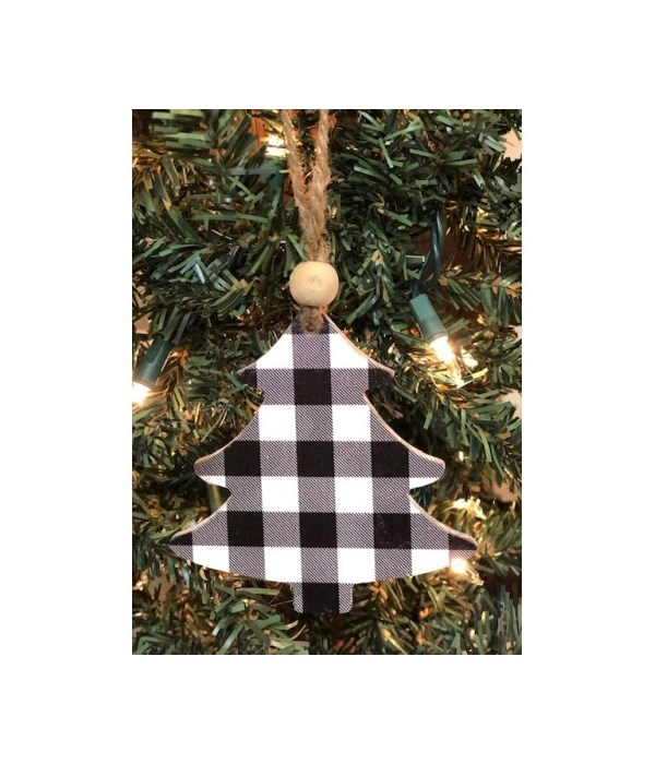 Black Checkered Tree Ornament