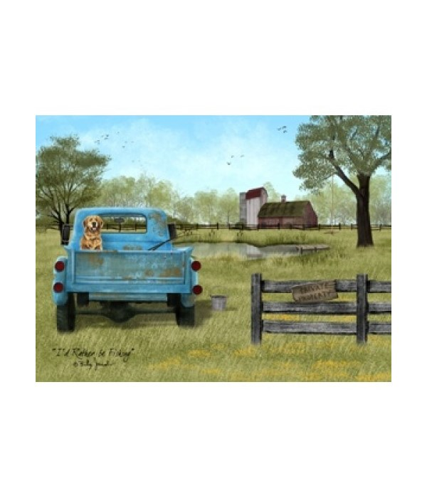 Rather be Fishing Canvas 12 x 16 in.