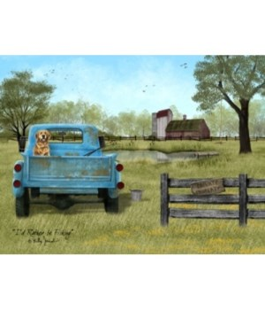 Rather be Fishing Canvas 8 x10 in.
