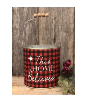 Rd Plaid This Home Believes Bucket
