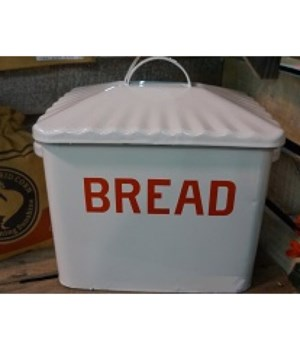 Red Rim Enamelware Bread Box
