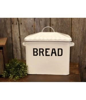 Bl Rim Enamelware Bread Box