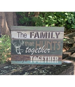 Family That Hunts Box Sign