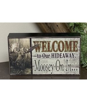 Moosey On In Box Sign