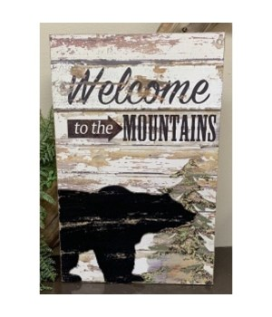 Welcome Mountain Sign