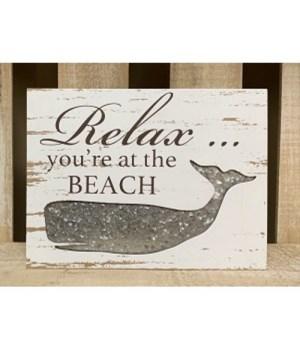 Relax Beach Box Sign