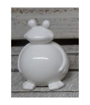 Porcelain Frog White 5 in.