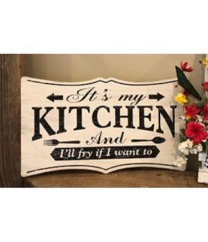 My Kitchen Sign 9.25 in.x15.25 in.